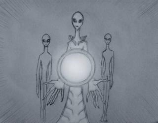 tall white alien by Calivander