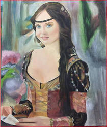 Painting Beautiful Woman by nikita6669