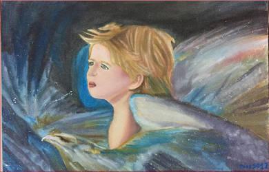 Painting Angel Boy by nikita6669