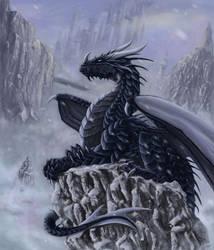 Winter dragon by x-Celebril-x