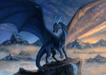 Blue dragon Commission by x-Celebril-x