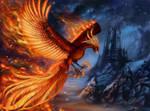 Phoenix Fiery Form Commission by x-Celebril-x