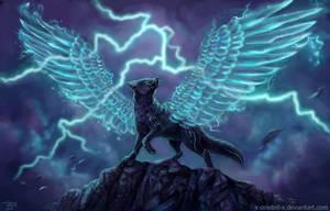 Lighting Fox Commission by x-Celebril-x