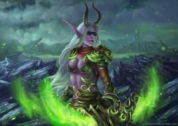 Demon Huntress Commission by x-Celebril-x