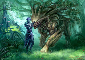 Sylvari and Oakheart Commission by x-Celebril-x