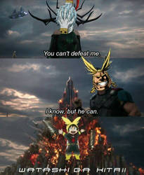All Might Can't Defeat Shigaraki, But Deku Can  by dksponge13