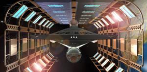 USS Federation Drydock 3 by TrekkieGal
