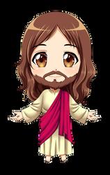 Jesus Chibi (COMMISSION) by KARIS-coba