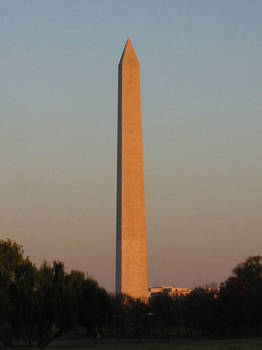 Washington at Sunset by dtrammell