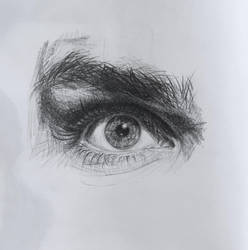 Gerard Way's eye by Kayalina