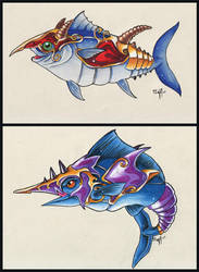 Fish Warriors by frowzivitch