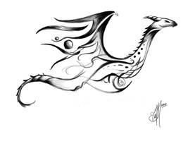 Tribal Dragon Tattoo concept by etheet