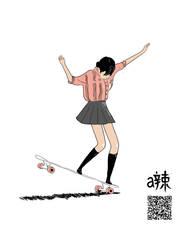 Longboard Cartoon by etheet