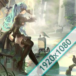 2B Miku Wallpaper Engine Free by WallpapeEngine