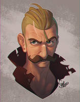 Old Man Buttons by GalooGameLady