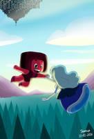 Ruby and Sapphire by SheapSheap