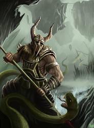 Water Barbarian by RaymondMinnaar