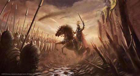 Avalon Lords Battlefield Illustration by RaymondMinnaar