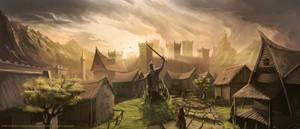 Avalon Lords  Castle Illustration by RaymondMinnaar