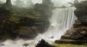 Waterfall Speedpainting by RaymondMinnaar