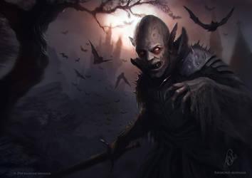 Vampire Illustration by RaymondMinnaar
