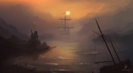 Misty waters by RaymondMinnaar