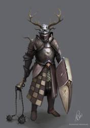 Stag knight by RaymondMinnaar