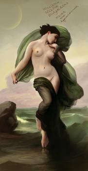 William-Adolphe Bouguereau study by RaymondMinnaar