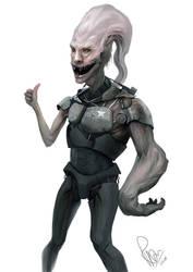 Random alien by RaymondMinnaar