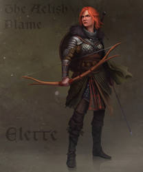 Elette Aelish flame by RaymondMinnaar