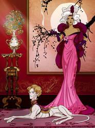 Queen and pet by truepoetryneverdies