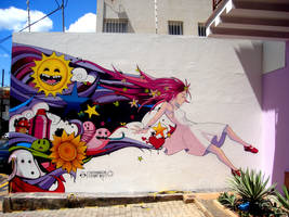 Lucy in the sky graffiti by tintanaveia
