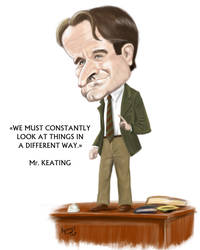 Robin Williams caricature by kyungjin74