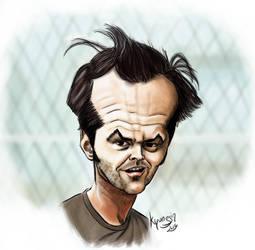 Jack Nicholson Caricature by kyungjin74