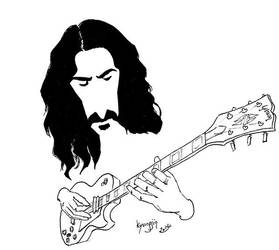Frank Zappa caricature by kyungjin74