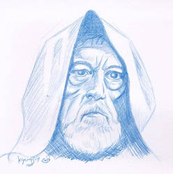 Alec Guinness caricature by kyungjin74