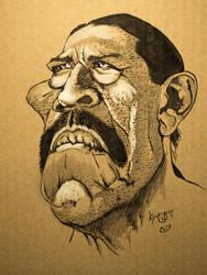 Danny Trejo caricature by kyungjin74
