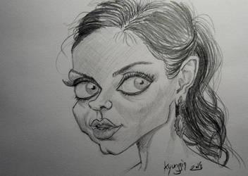 Mila Kunis caricature by kyungjin74