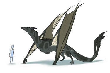 like a giant bat by okavango