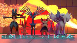 Gens 1-6 Pokemon Models (inc. Mega)! [3D DOWNLOAD] by TheModerator
