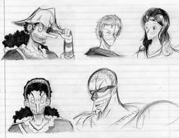 One Piece 2Y sketches by Smudgeandfrank