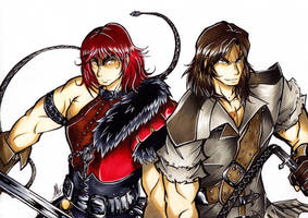 Commission: Simon and Trevor Belmont by Smudgeandfrank