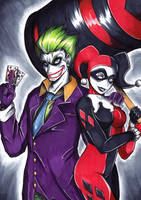 Commission: Joker and Harley by Smudgeandfrank