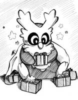 Inktober 2016 Day 3: Delibird Collecting 'em All by Smudgeandfrank