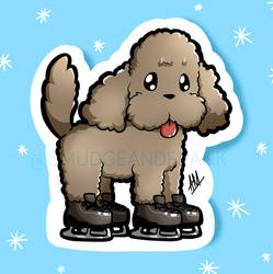 Yuri on Ice: Makkachin Sticker by Smudgeandfrank