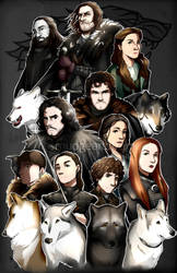 Game of Thrones: House Stark by Smudgeandfrank
