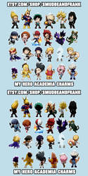 My Hero Academia Double-Sided Charms ON SALE by Smudgeandfrank
