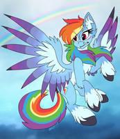 Rainbow Dash Alternate Design by UntrimmedLines