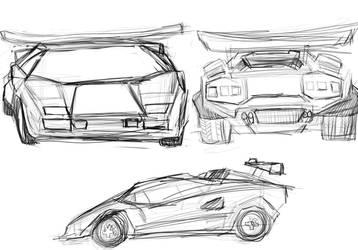 countach random sketches by mechaguy