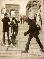 The Beatles in Paris by Perreh